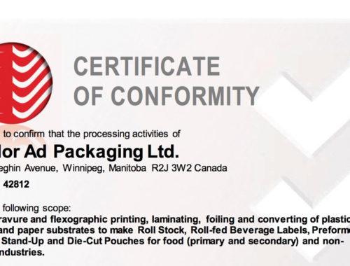 2017 certificate of conformity