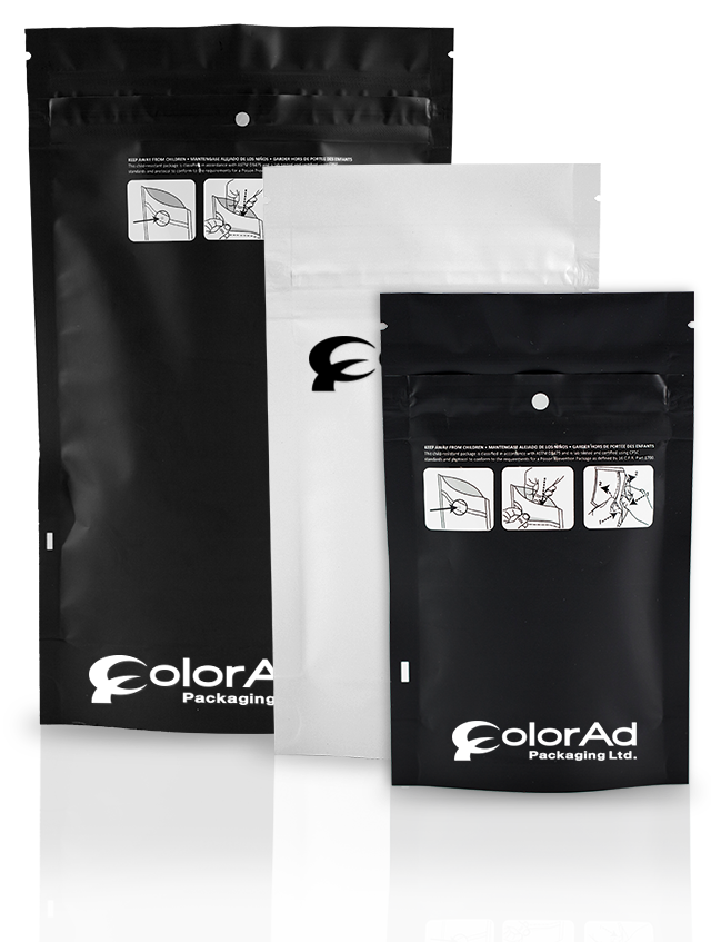 black and white Color Ad Packaging Ltd. bags